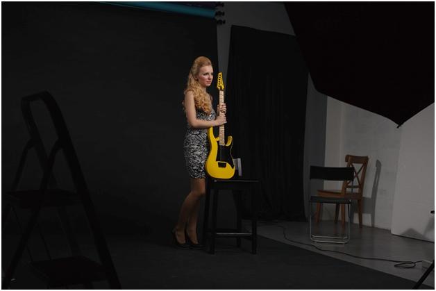 Подготовка к съёмке студийного портрета